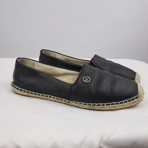Michael Kors Kendrick Pebbled Leather Espadrille